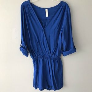 Gorgeous royal blue long-sleeves romper